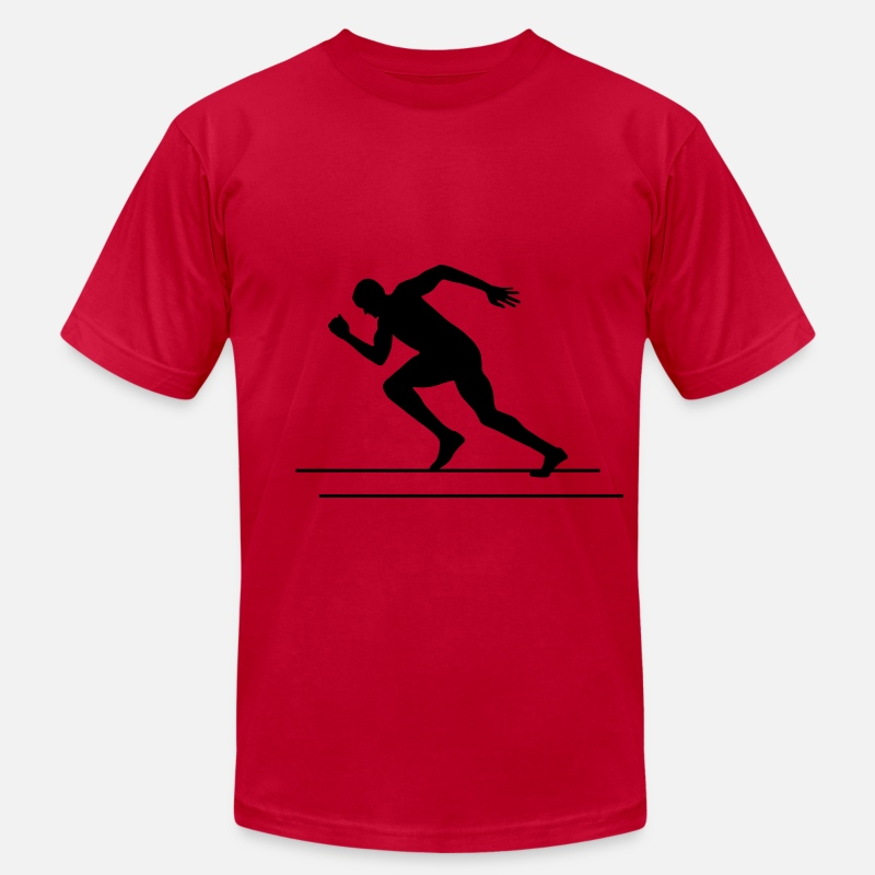 2012 T-Shirts - Runner, Running, Sprinter - Men's Jersey T-Shirt red