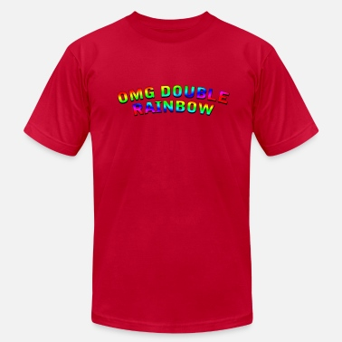 Omg Youtube OMG Double Rainbow - Men's Fine Jersey T-Shirt