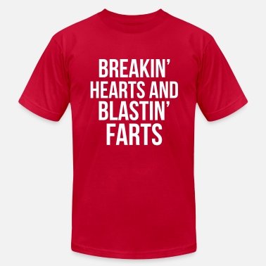 Farting Boys Breakin' hearts blastin' farts - Men's  Jersey T-Shirt
