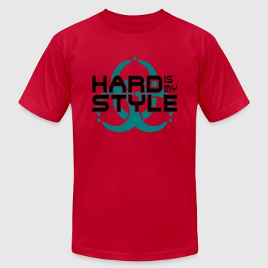hard is my style - hardstyle vector - Men's Fine Jersey T-Shirt