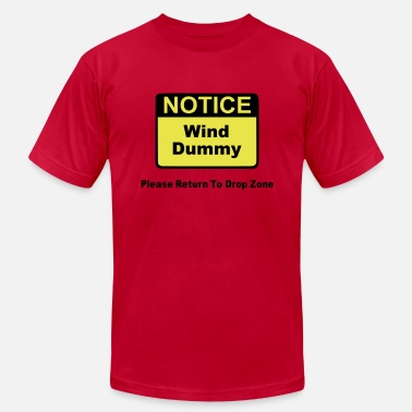 Parachuting Notice Wind Dummy Please Return To Drop Zone - Men's  Jersey T-Shirt