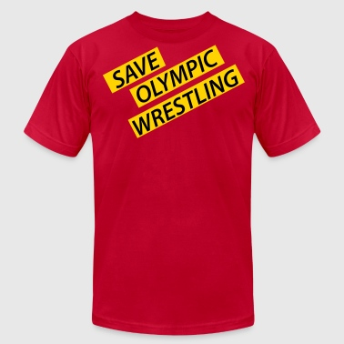 Save Olympic Wrestling - Men's Fine Jersey T-Shirt