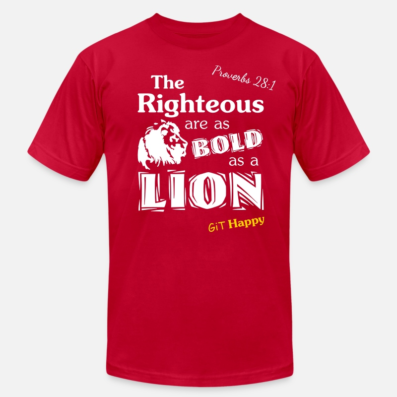 Head T-Shirts - Proverbs 28:1 - Men's Jersey T-Shirt red