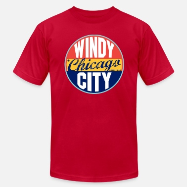Windy City Chicago Vintage Label - Men's  Jersey T-Shirt