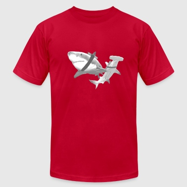 Sharks with Lasers - Men's Fine Jersey T-Shirt