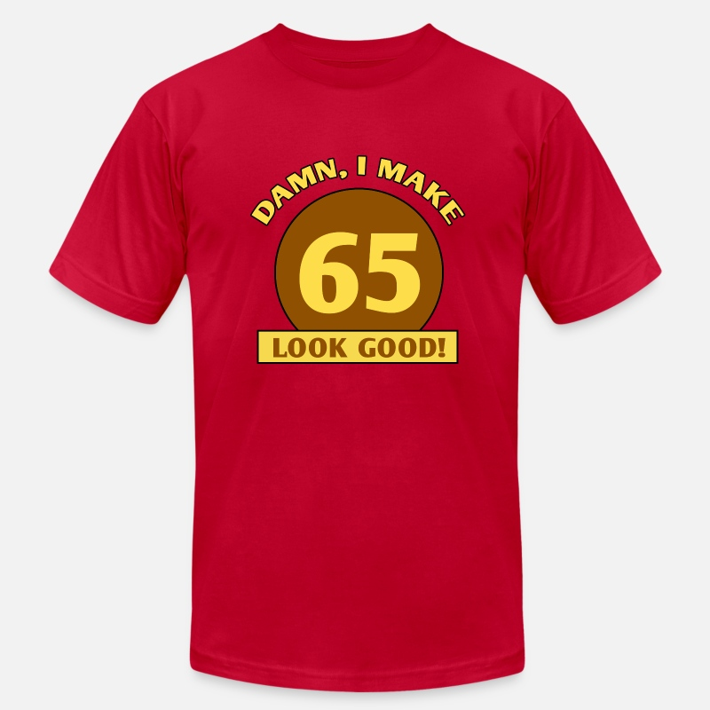 Birthday T-Shirts - 65th Birthday Gag Gift - Men's Jersey T-Shirt red