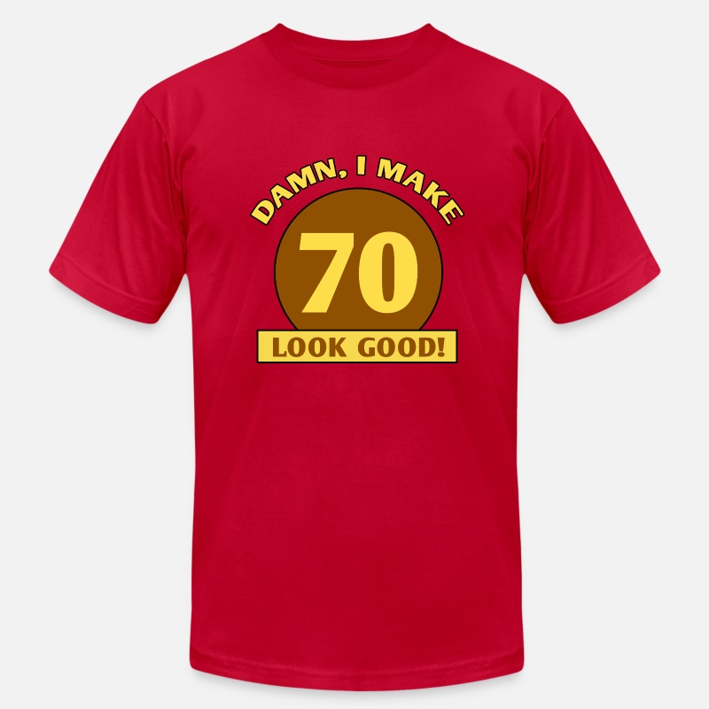 934cc931102 Design. Front. Back. Birthday T-Shirts - 70th Birthday Gag Gift - Men s  Jersey T-Shirt red