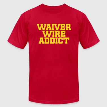 Fantasy Baseball Waiver Wire Addict (Black & Metallic Gold) - Men's Fine Jersey T-Shirt