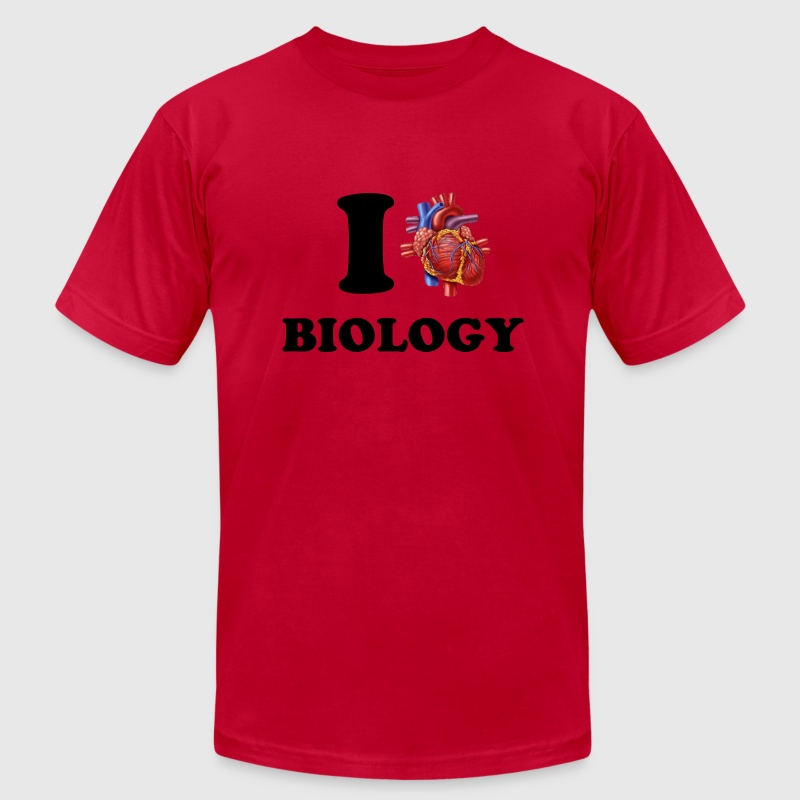 I *heart* Biology - Men's Fine Jersey T-Shirt