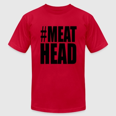 Meathead Weight Lifting Funny - Men's Fine Jersey T-Shirt