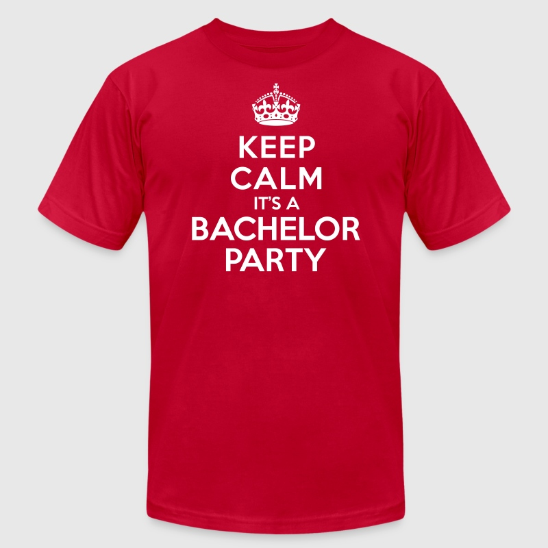 Keep calm it's Bachelor Party - Men's Fine Jersey T-Shirt
