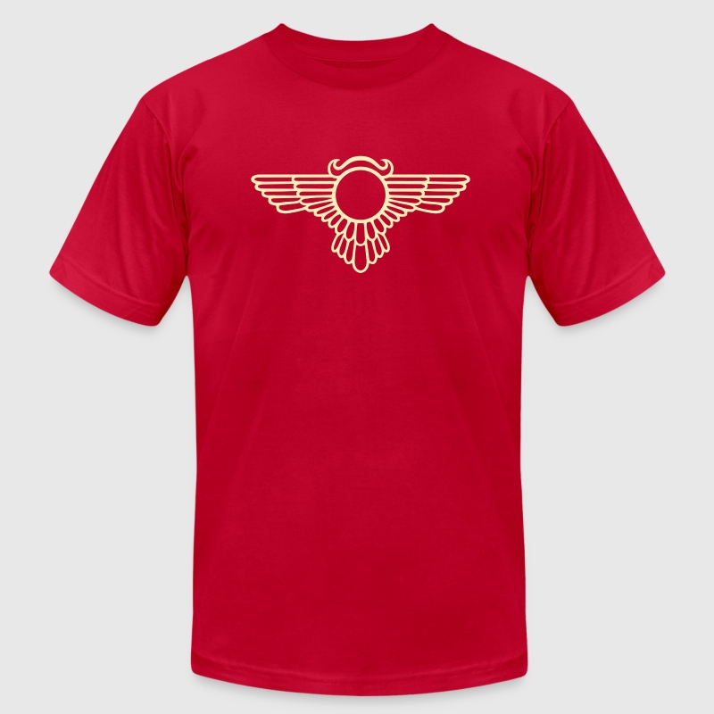 Winged Globe, symbol of the perfected soul - Men's Fine Jersey T-Shirt