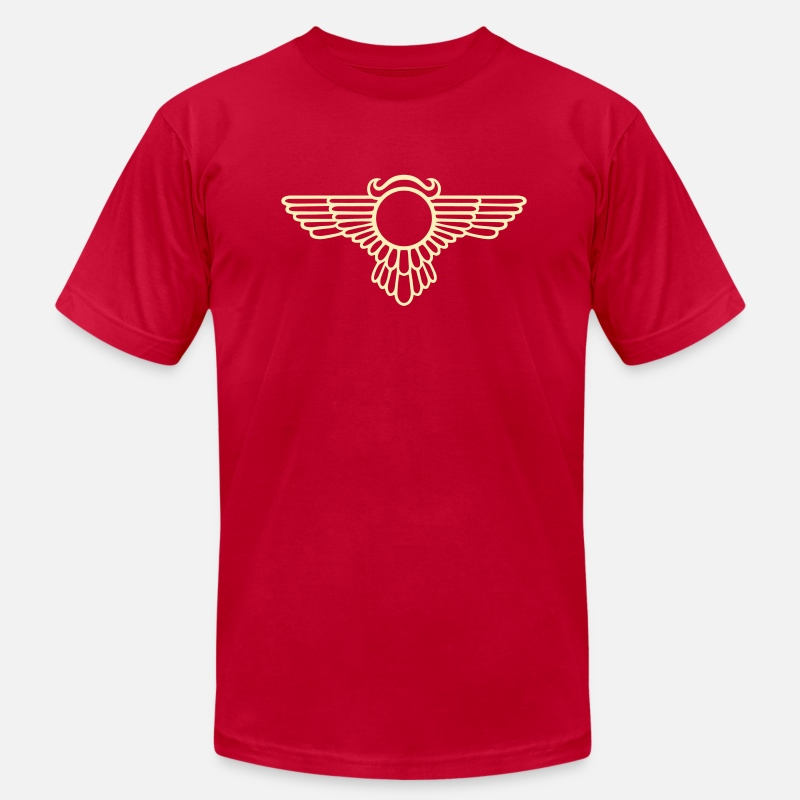 Rosicrucian Freemason Masonic T-Shirts - Winged Globe, symbol of the perfected soul - Men's Jersey T-Shirt red