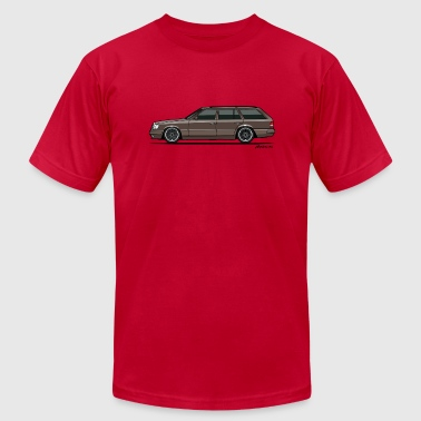 Lower Class Mercedes Benz W124 300TE 300TD Wagon Anthracite - Men's Fine Jersey T-Shirt