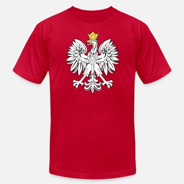 Polska Polish Eagle Coat of Arms - Gold Accents - Men's  Jersey T-Shirt