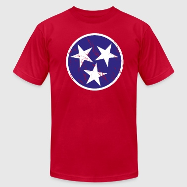 Vintage Tennessee Flag - Men's Fine Jersey T-Shirt