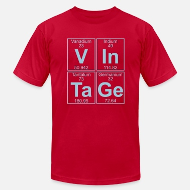 Vanadium Periodic Table V-In-Ta-Ge (vintage) - Full - Men's  Jersey T-Shirt