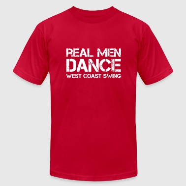 Swing Dance Real Men Dance West Coast Swing - Men's Fine Jersey T-Shirt