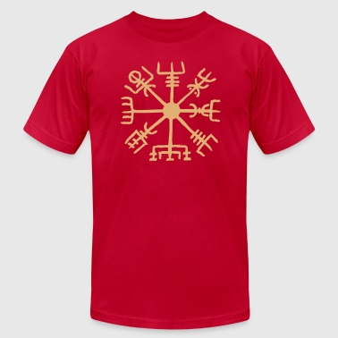 Vegvisir, Magical Runes, Protection & Navigation - Men's Fine Jersey T-Shirt
