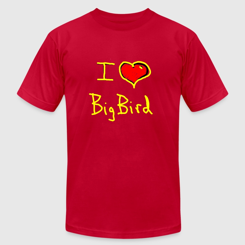 i love big bird - Men's Fine Jersey T-Shirt