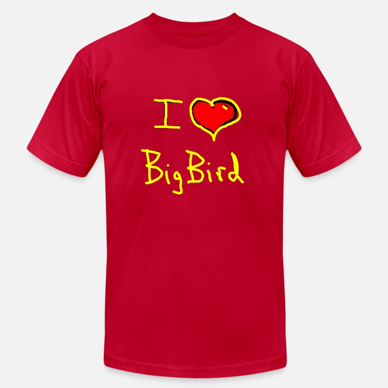 Love Big Bird T-Shirts - i love big bird - Men's Jersey T-Shirt red