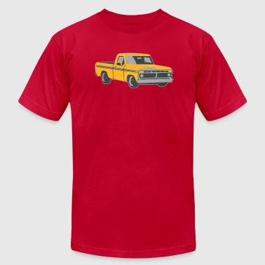 pickup truck vintage-look - Men's Fine Jersey T-Shirt