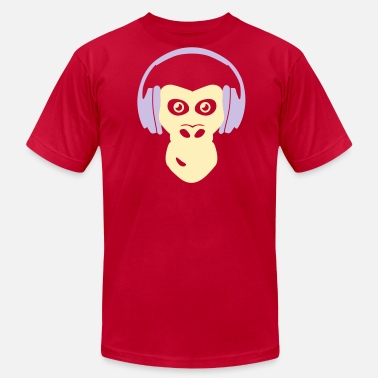 Gorilla With Headphones gorilla with headphones - Men's Jersey T-Shirt