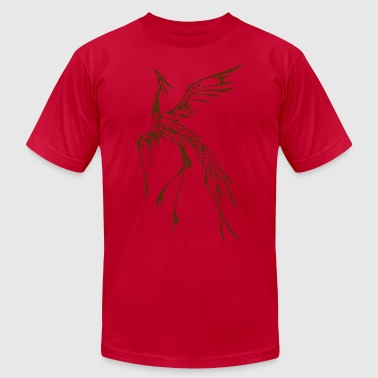 Crane / Phoenix Tribal Tattoo - Men's Fine Jersey T-Shirt