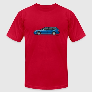 Audi RS4 B5 Nogaro Blue - Men's Fine Jersey T-Shirt