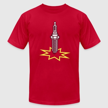 A spark plug with spark - Men's Fine Jersey T-Shirt