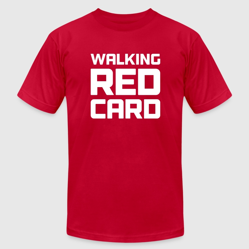 Walking Red Card - Men's Fine Jersey T-Shirt