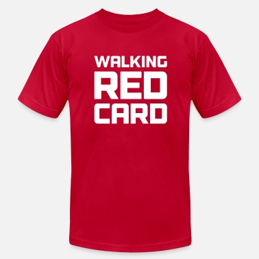 Red Card Soccer Walking Red Card - Men's Fine Jersey T-Shirt