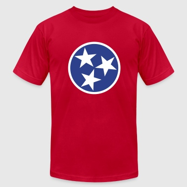 Tennessee State Flag - Men's Fine Jersey T-Shirt