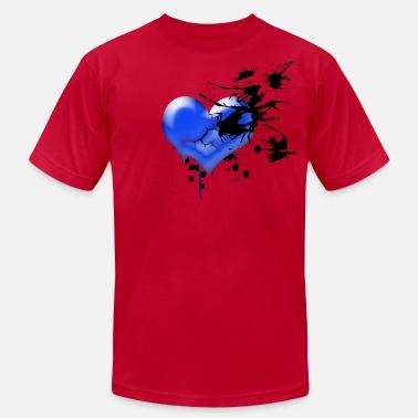86cb65a21d791c My Broken Blue Heart Men s Jersey T-Shirt