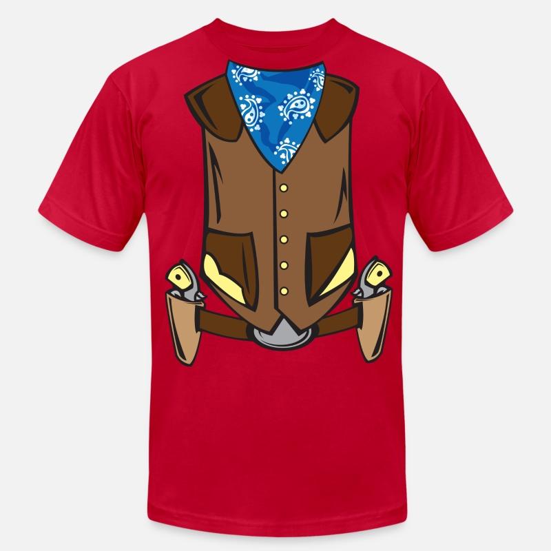 Western Cowboy Costume Men S Jersey T Shirt Spreadshirt