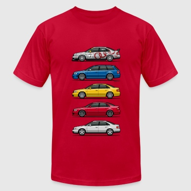 Audi S4 Stack of Audi A4 B5 - Men's Fine Jersey T-Shirt