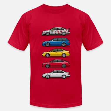 B5 A4 Stack of Audi A4 B5 - Men's Fine Jersey T-Shirt