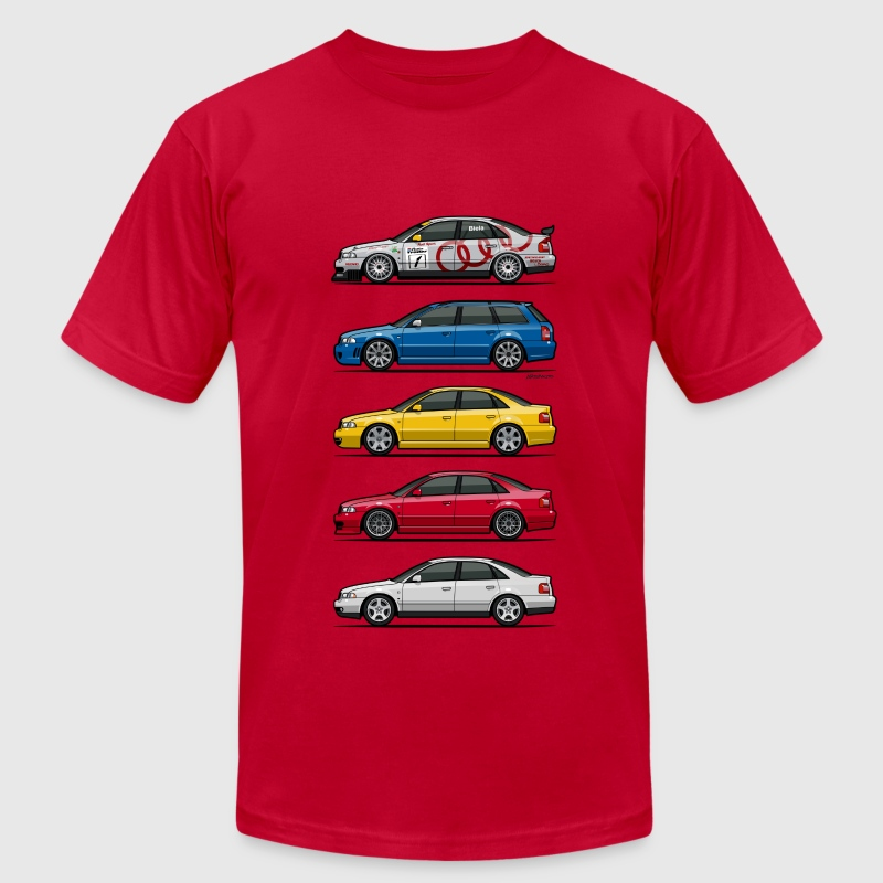 Stack of Audi A4 B5 - Men's Fine Jersey T-Shirt