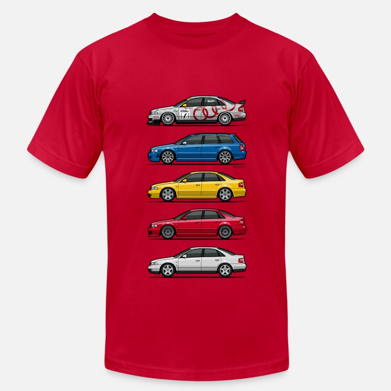 Car T-Shirts - Stack of Audi A4 B5 - Men's Jersey T-Shirt red