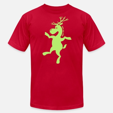 Needs Exercise Christmas Reindeer Exercising - Men's  Jersey T-Shirt