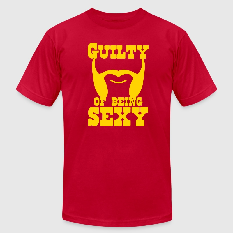 guilty of being sexy mutton chops - Men's Fine Jersey T-Shirt