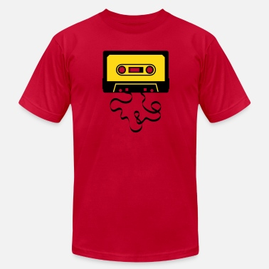 Cassette Player audio tape cassette recorder cassette player deck  - Men's Jersey T-Shirt