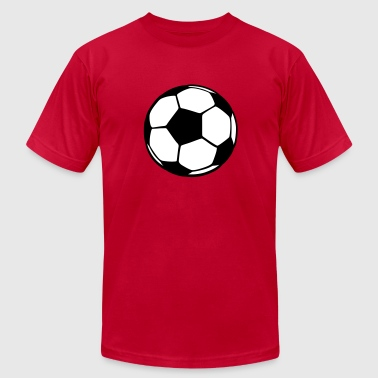 Soccer ball black - Men's Fine Jersey T-Shirt