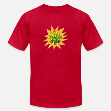 solar power is good - Men's  Jersey T-Shirt