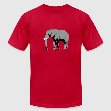 Elephant - Africa - Safari - Men's Fine Jersey T-Shirt