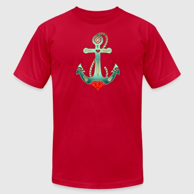 Anchor Tattoo Style, Sea, Hope, Faith & Love - Men's Fine Jersey T-Shirt