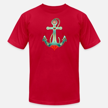 Christian Anchor Anchor Tattoo Style, Sea, Hope, Faith & Love - Men's Fine Jersey T-Shirt