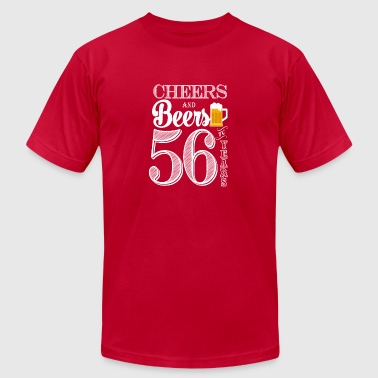 56 Years Cheers and Beers To 56 Years - Men's Fine Jersey T-Shirt