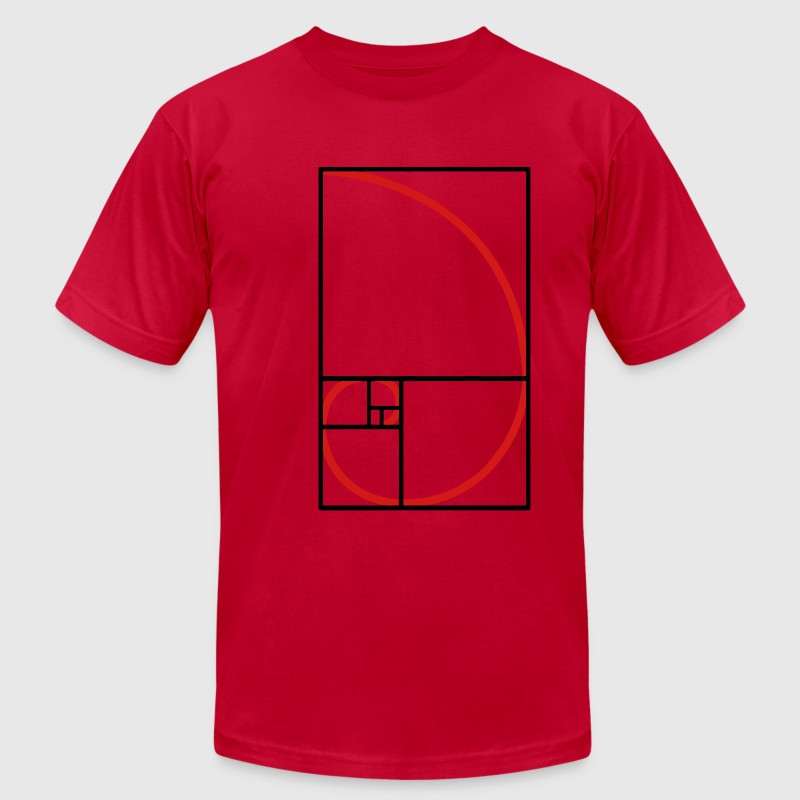fibonacci curve, golden section - Men's Fine Jersey T-Shirt