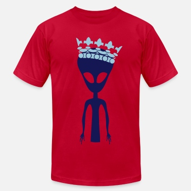 Trendy Alien Alien With A Crown - Men's Fine Jersey T-Shirt